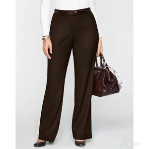 TALBOTS Brown Wide Leg Trouser Pant Heritage Fit
